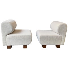 Pair of Slipper Chairs P, Italy, 1970s