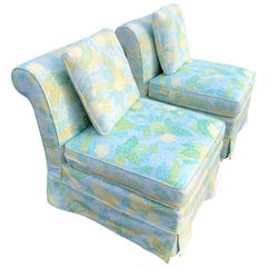 Pair of Slipper Chairs with Cushion