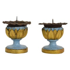 Pair of Small 18th Century Italian Neoclassical Candleholders / Candlesticks