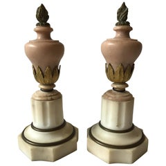 Pair of Small 1920s Marble Urns