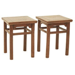 Pair of Small 19th Century Stools / Bedside Tables