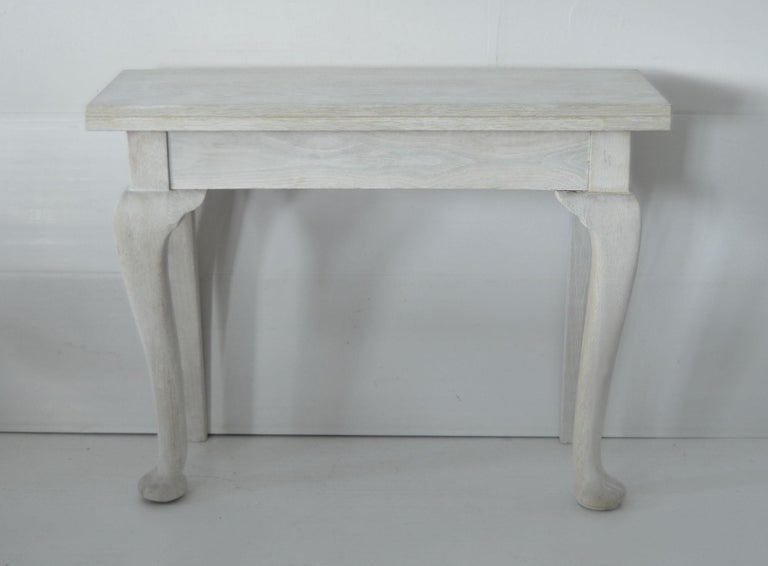 Pair of Small Antique Bleached Oak Console Tables In Good Condition For Sale In St Annes, Lancashire