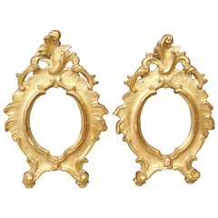 Pair of Small Antique Giltwood Frames from Italy, Early 19th Century