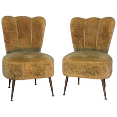 Pair of Small Armchairs 1950s in the Style of Zanuso