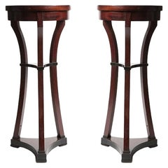 Pair of Small Biedermeier Tables, Russia, 1870