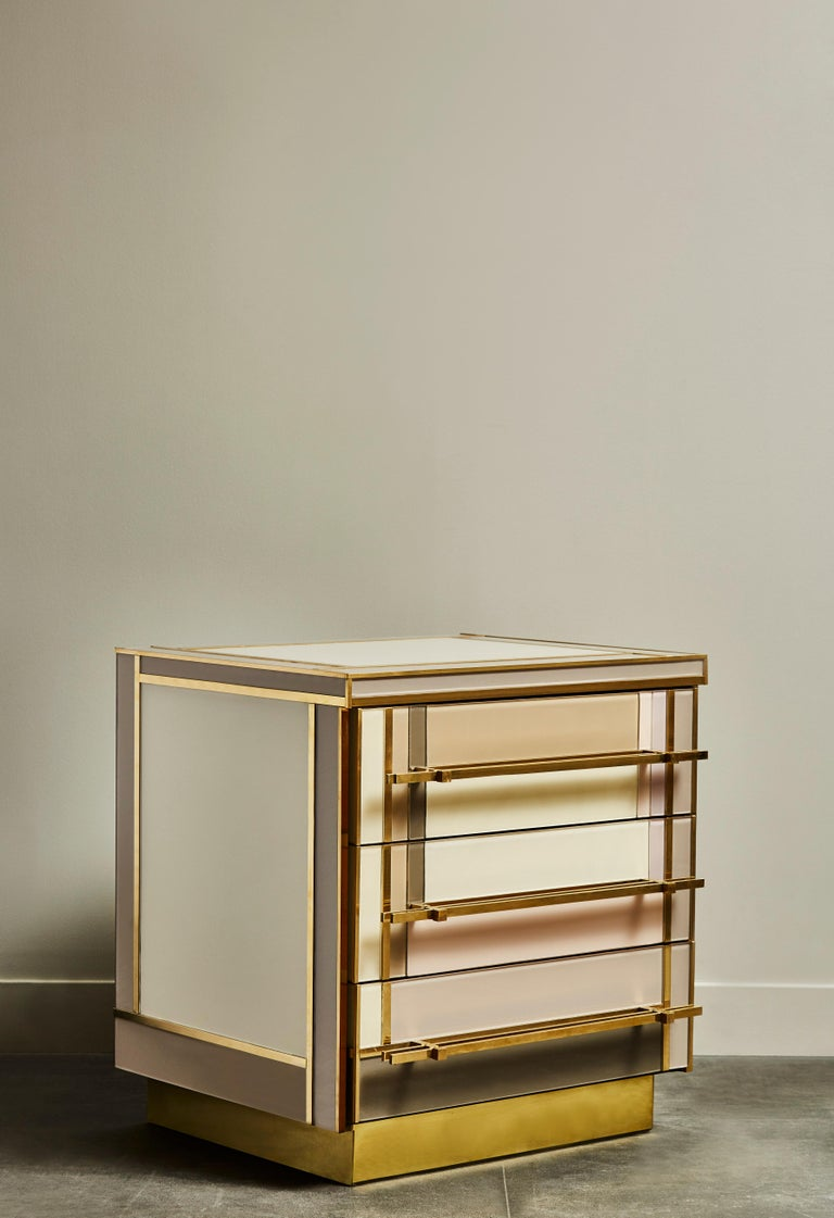 Pair of Small Chests in Mirror by Studio Glustin In Excellent Condition For Sale In Saint-Ouen (PARIS), FR