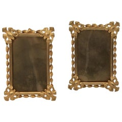 Pair of Small Gilded Brass Photo Frames