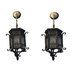 Pair of Small Hanging Lanterns
