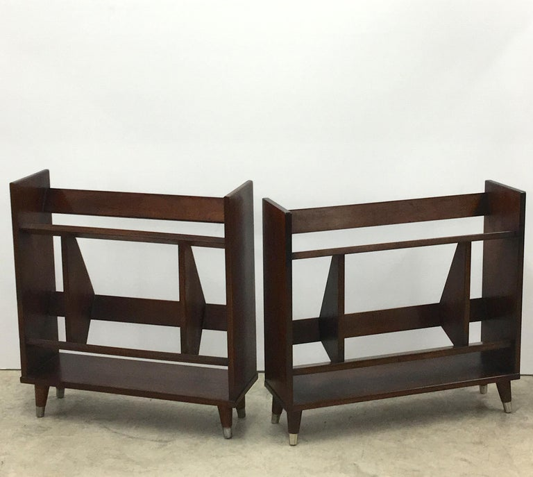 Pair Of Small Modernist Book Shelves For Sale At 1stdibs