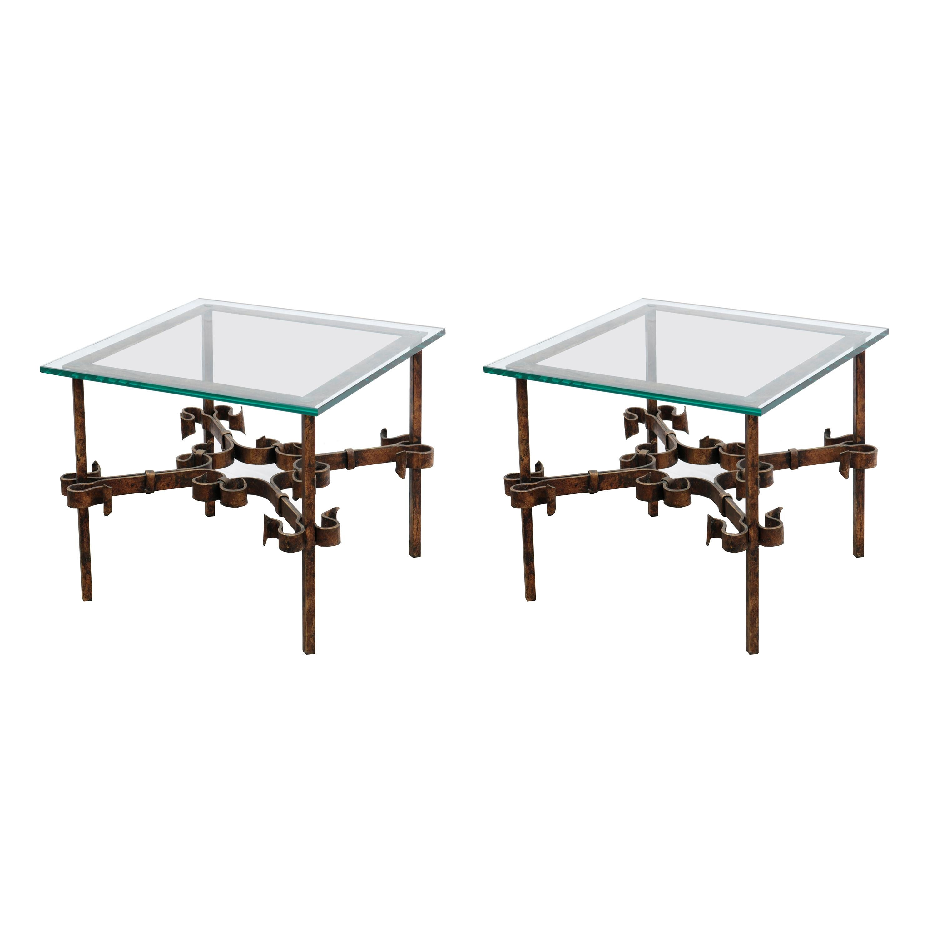Pair of Small Modernist Side Tables