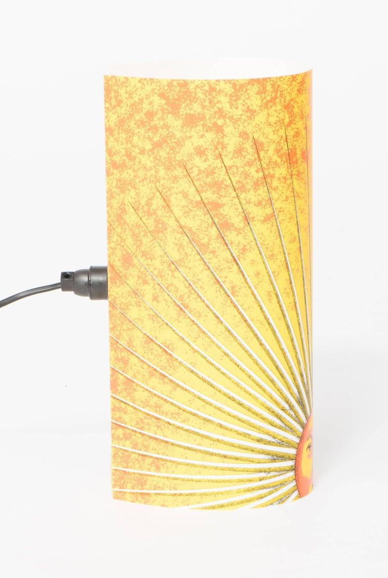 Italian Pair of Small Perspex Table Lamps