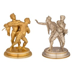 Pair of Small Scale Continental 19th Century Statues, by Émile Guillemin