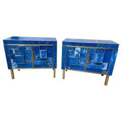 Pair of small sideboards / nightstands 2 doors - Circa 1970