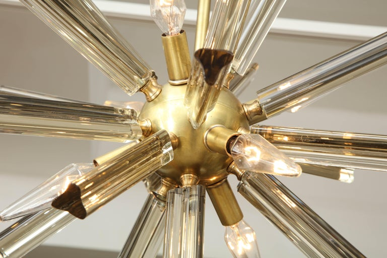 Pair of Small Sputnik Chandeliers In Excellent Condition For Sale In New York, NY