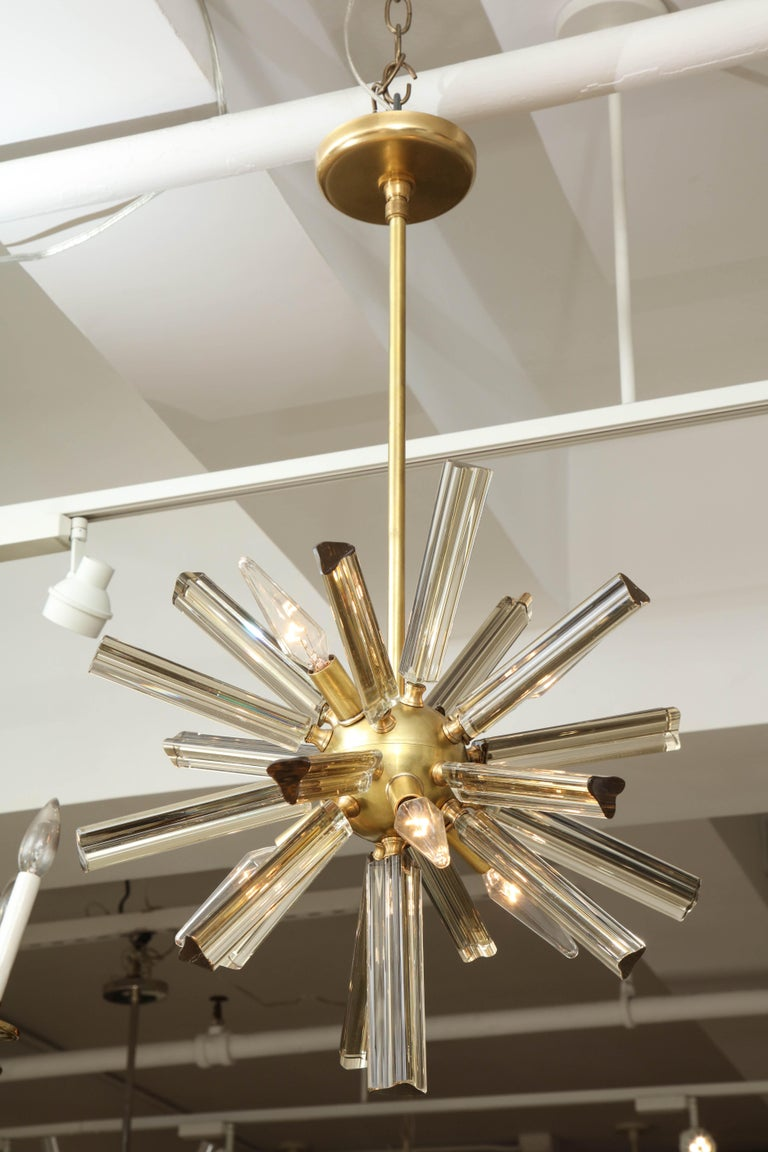 20th Century Pair of Small Sputnik Chandeliers For Sale