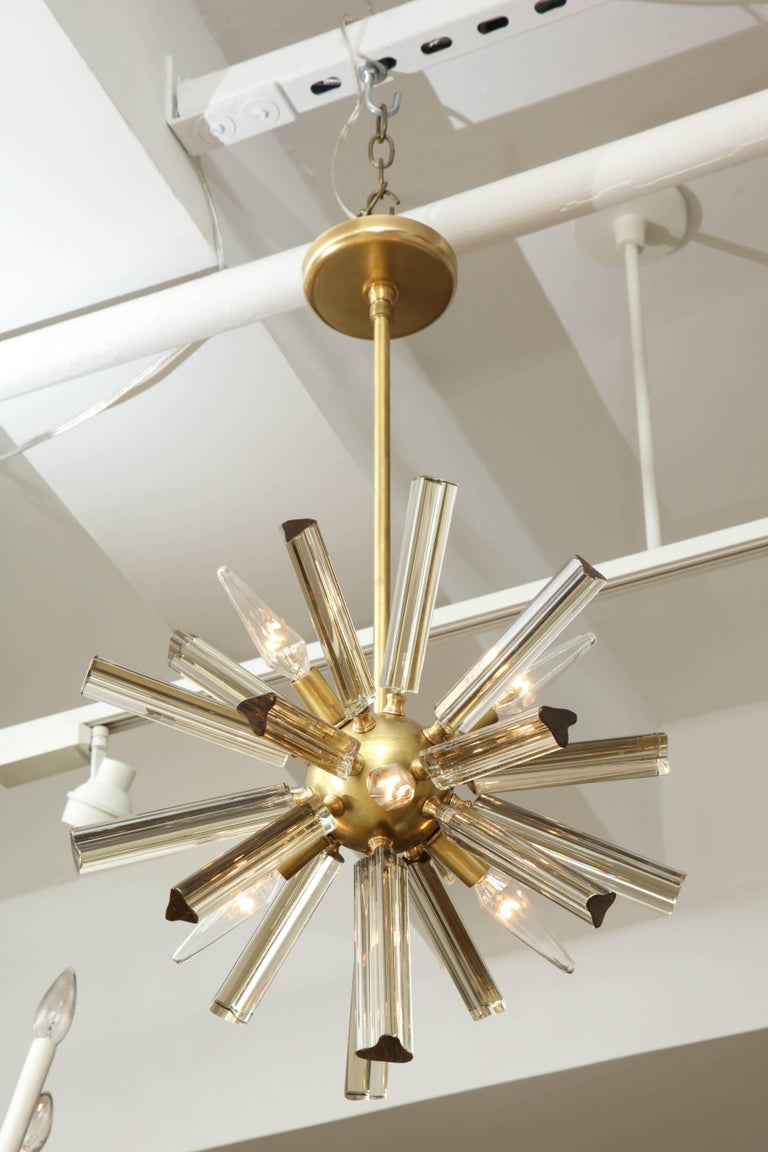 Pair of Small Sputnik Chandeliers For Sale 1