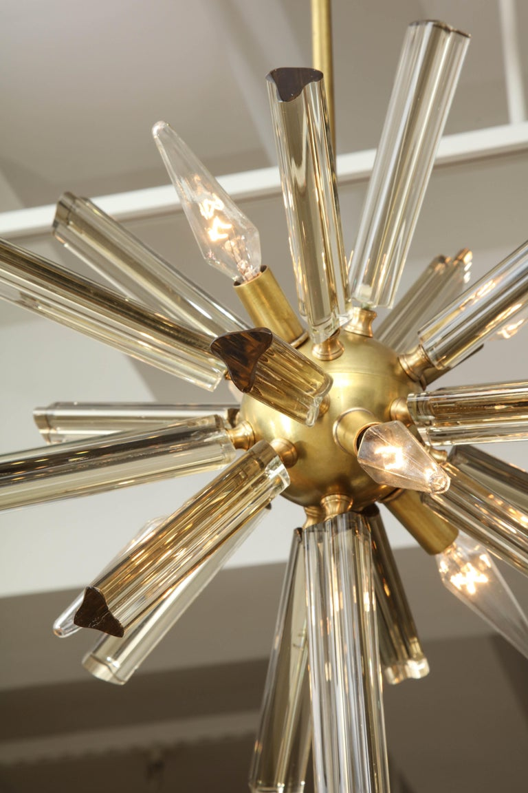 Pair of Small Sputnik Chandeliers For Sale 2
