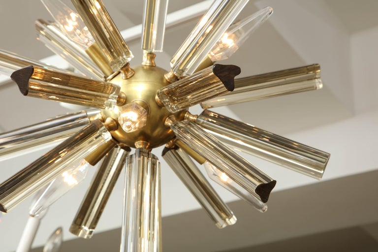 Pair of Small Sputnik Chandeliers For Sale 3