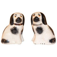Pair of Small Staffordshire Dogs, circa 1970