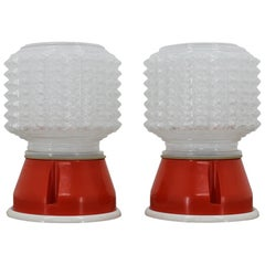 Pair of Small Table Lamps, 1980