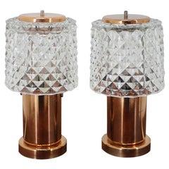 Pair of Small Table Lamps, Preciosa, 1960s