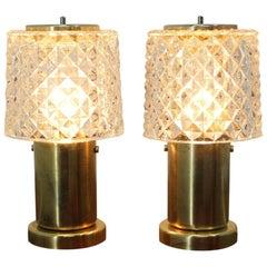 Pair of Small Table Lamps, Preciosa, 1970s