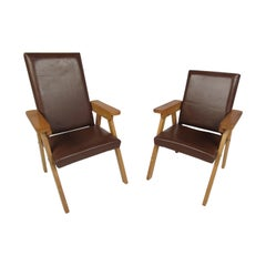 Pair of Small Vintage Modern Lounge Chairs