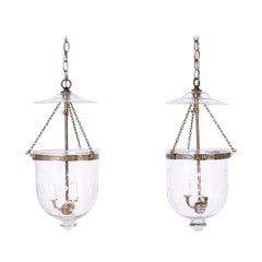 Pair of Smoke Bell Light Fixtures, Priced Individually