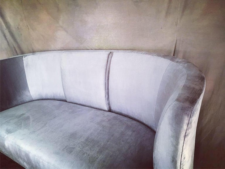 Pair of custom sofa's by Darren Ransdell design - a unique pair of velvet sofa's with an elegant raised portion in the center (see photos) - the raised portion ads a bit of glamour and sophistication without changing the comfort... but let's face
