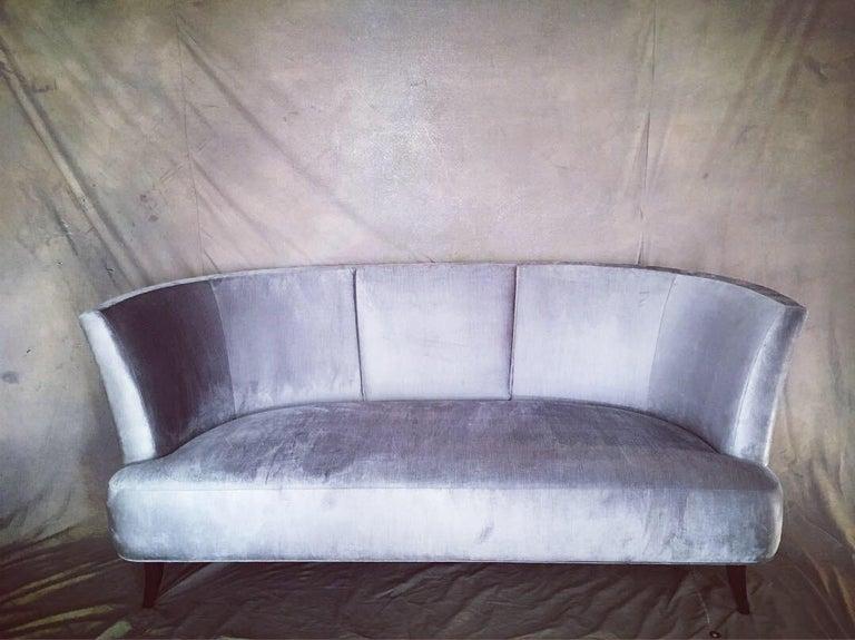 Velvet Pair of Sofas by Darren Ransdell Design For Sale