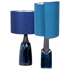 Pair of Soholm Table Lamps with New Silk Custom Made Lampshades René Houben 1960