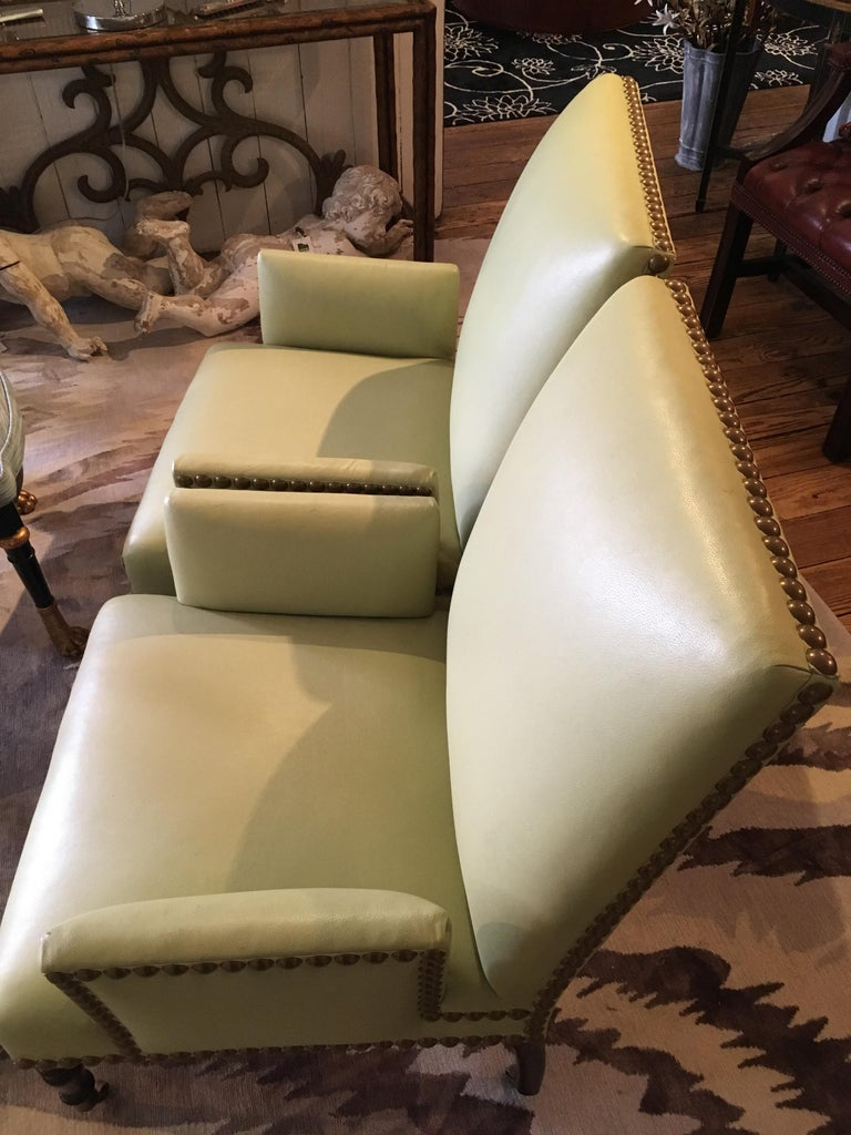 Pair Of Sophisticated Luscious Lime Green Leather George