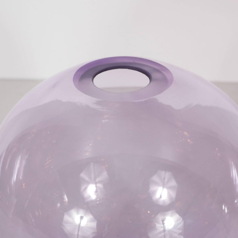 Pair of Sophisticated Modernist Amethyst and Pink Sapphire Vases by Nick Leonoff For Sale 1