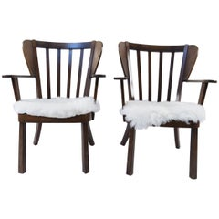 "Pair of Soren Hansen for Fritz Hansen ""Canada"" Chairs"