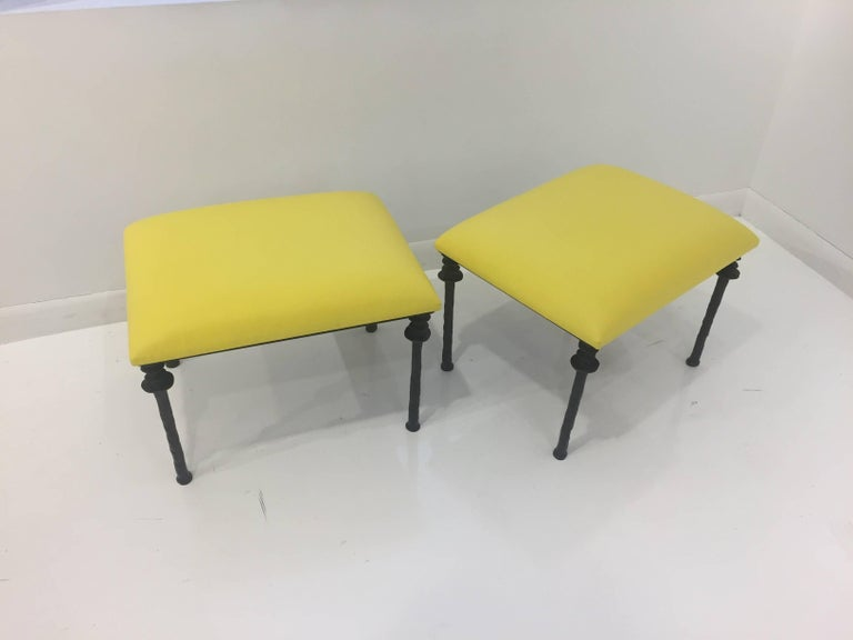 Contemporary Pair of Sorgue Stools by Bourgeois Boheme Atelier For Sale