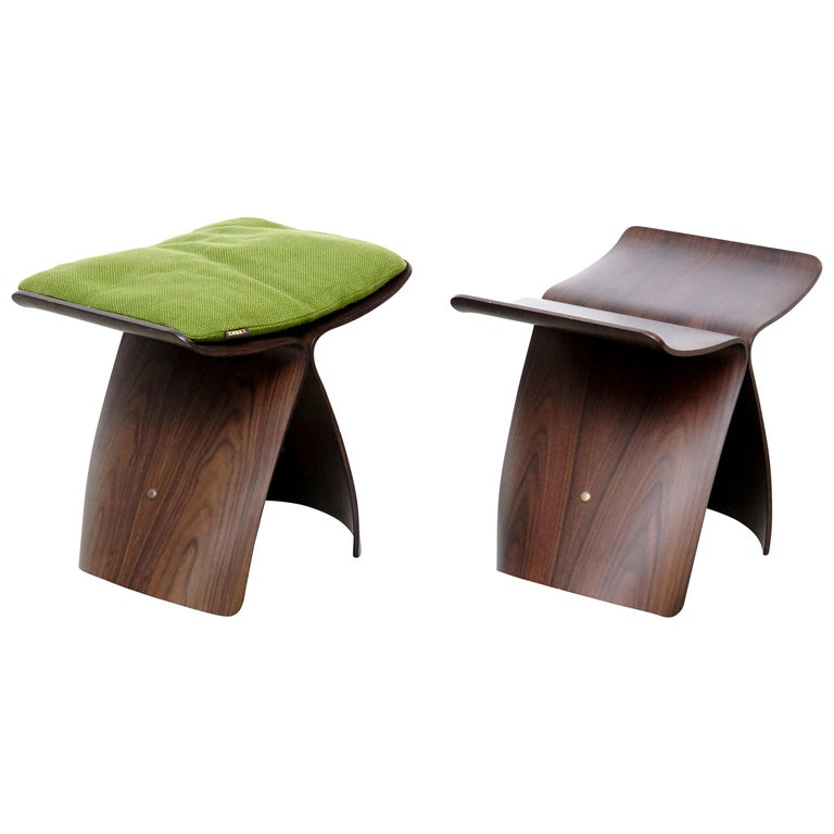 Pair of Sori Yanagi Butterfly Stools For Sale