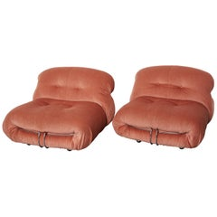 Pair of Soriana Lounge Chairs by Afra and Tobia Scarpa, Cassina, 1970