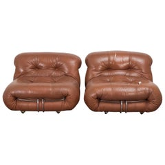 Pair of Soriana Lounge Chairs for Cassina