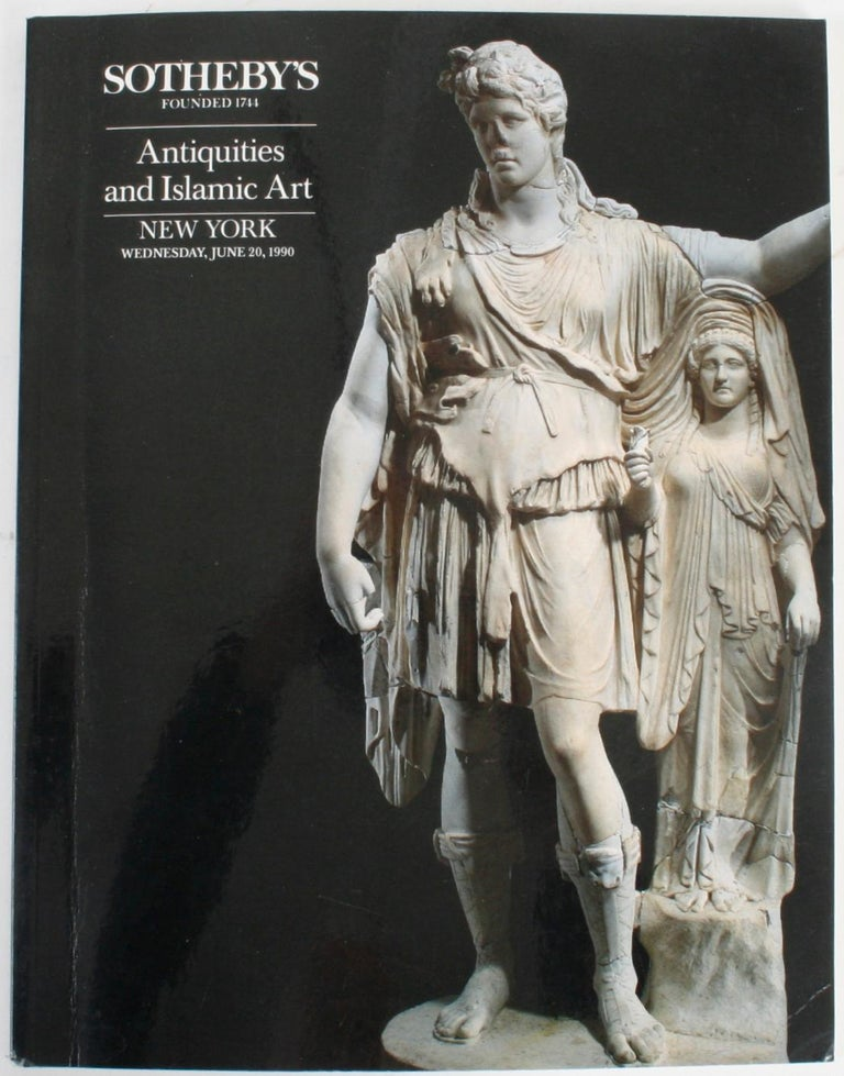 Sotheby's New York: Antiquities and Islamic Art, 1990. Egyptian, Greek, Etruscan, Roman and Western Asiatic Antiquities and Islamic Works of Art. 230 lots. Sotheby's London: Antiquities, 1985. Ancient glass, Egyptian, Middle Eastern Greek, Etruscan