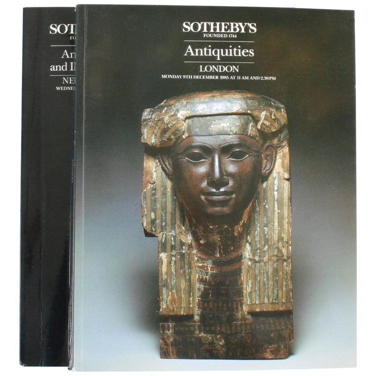 Pair of Sotheby's Catalogues on Antiquities and Islamic Art For Sale