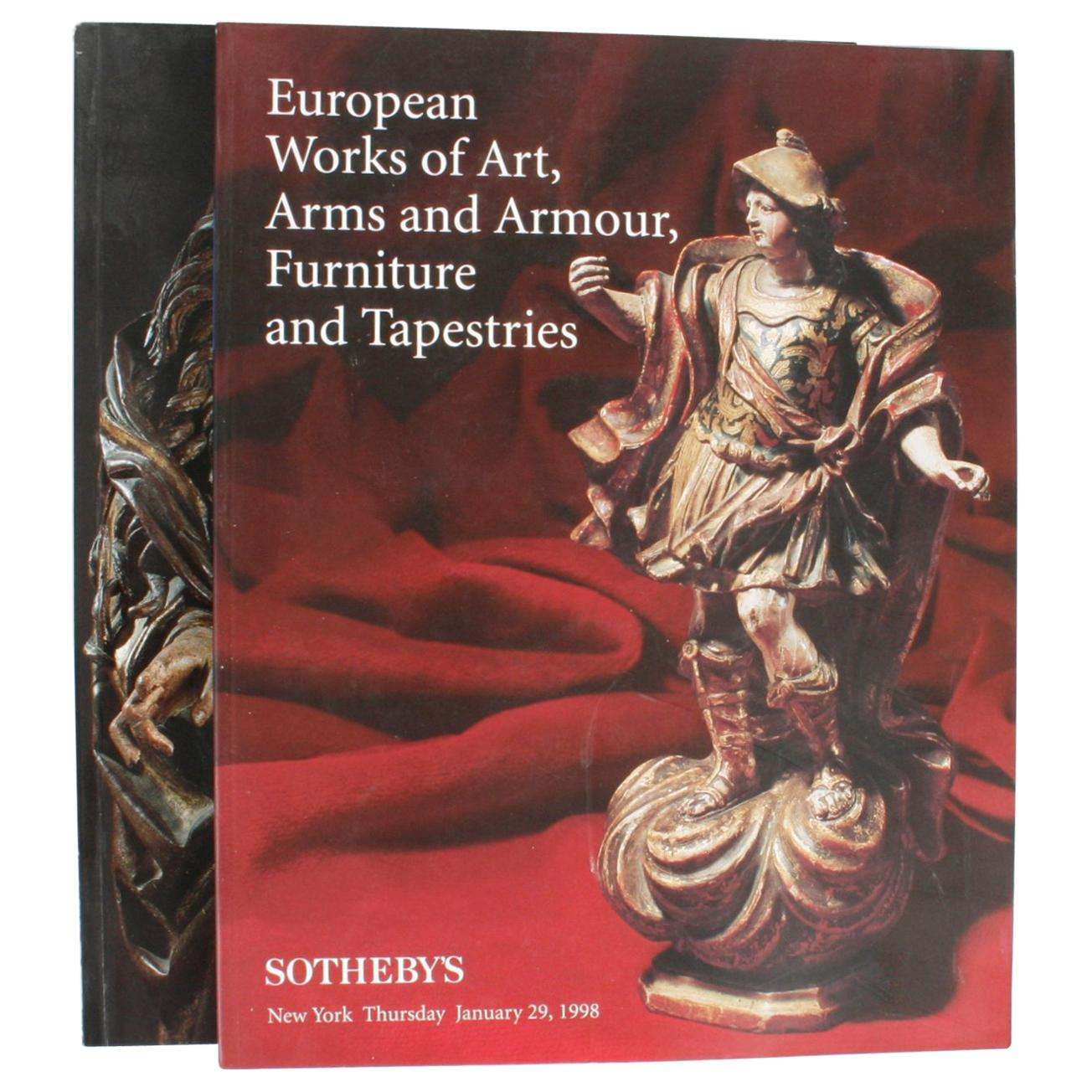 Pair of Sotheby's Catalogues on European Works of Art, Furniture and Tapestries