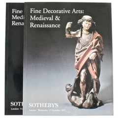 Pair of Sotheby's Catalogues on Fine Decorative Arts: Medieval & Renaissance