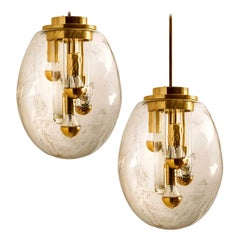 Pair of Space Age Sputnik Light Fixtures by Doria, Germany, 1970s