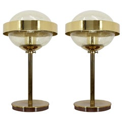 Pair of Space Age Style UFO Table Lamp, Kamenicky Senov, 1970s