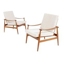 "Pair of ""Spade"" Armchairs by Finn Juhl"