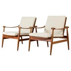 "Pair of ""Spade"" Lounge Chairs by Finn Juhl"