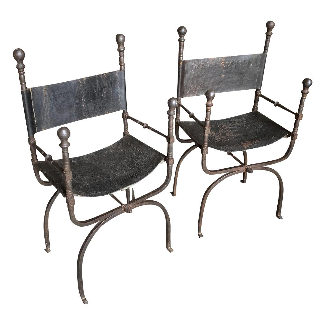 Pair of Spanish 18th Century Armchairs