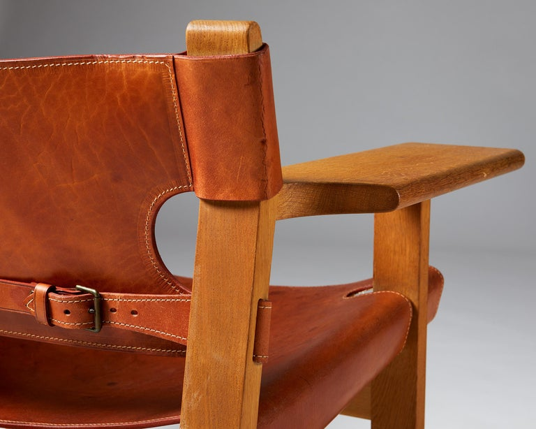 """Pair of """"Spanish"""" Armchairs Designed by Börge Mogensen For Sale 4"""