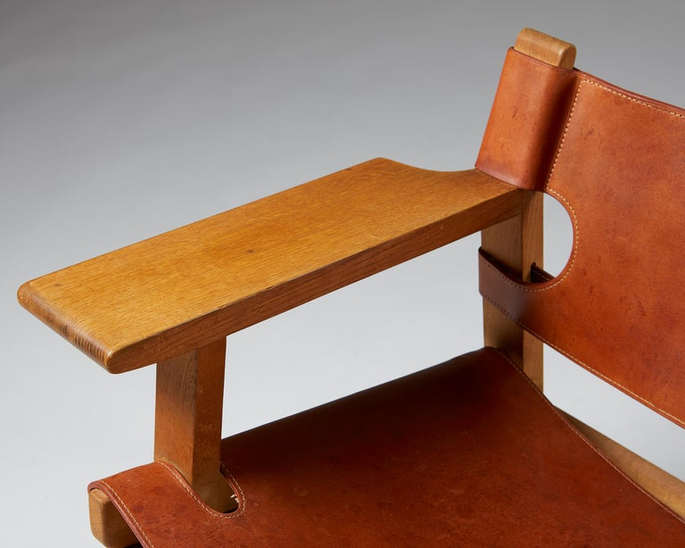 """Pair of """"Spanish"""" Armchairs Designed by Börge Mogensen For Sale 5"""