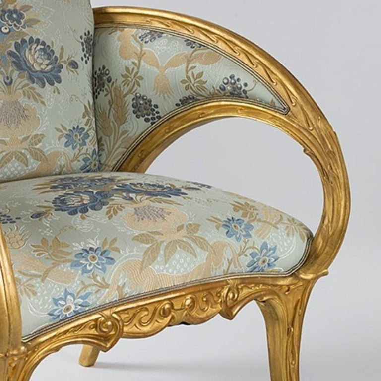 Pair of Spanish Art Nouveau Armchairs by Joan Busquets In Excellent Condition For Sale In New York, NY